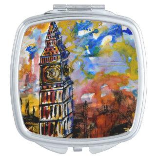 Miroirs Compacts Big Ben frappe l'horloge Dix