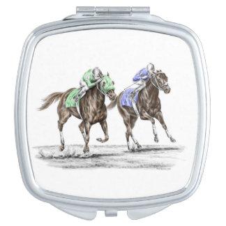 Miroirs Compacts Emballage de chevaux de pur sang