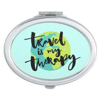 Miroirs Compacts Le voyage est ma thérapie