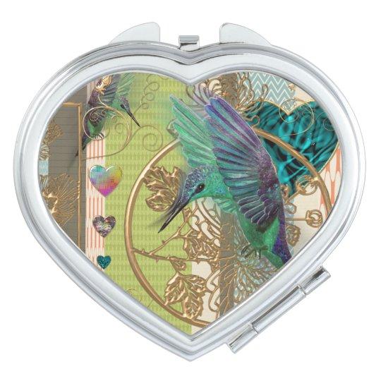 """Miroirs Compacts miroir coeur """"colibri"""""""
