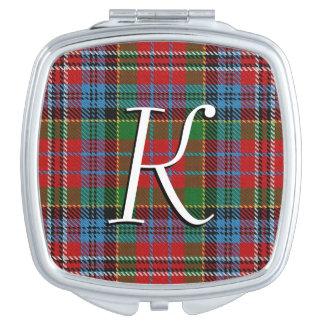 Miroirs Compacts Plaid de tartan écossais de Kidd de clan de beauté