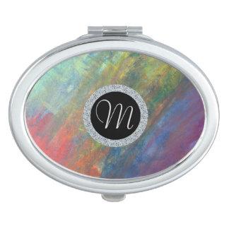 Miroirs De Maquillage Abrégé sur résilient | arc-en-ciel d'aquarelle de