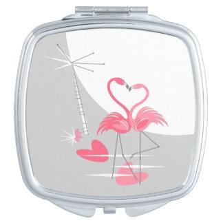 Miroirs De Maquillage Carré de miroir de contrat de lune d'amour de
