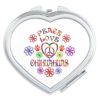 Miroirs De Maquillage Chiwawas d'amour de paix
