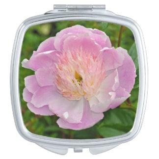 Miroirs De Maquillage Fleur rose de pivoine