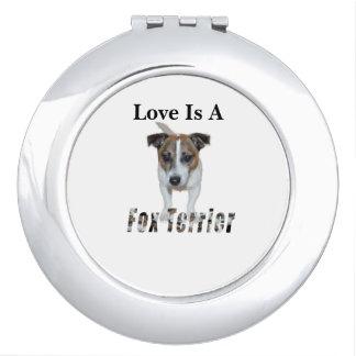 Miroirs De Maquillage L'amour est un Fox Terrier,