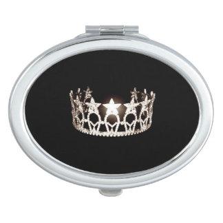 Miroirs De Maquillage Miroir argenté de contrat de couronne de la Mlle