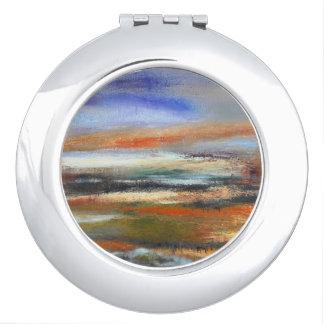 Miroirs De Maquillage Miroir de contrat d'abrégé sur couches de la terre