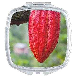 Miroirs De Maquillage rouge de cosse de cacao