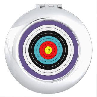 Miroirs De Poche Cible de tir à l'arc de sports sur le pourpre