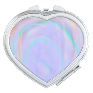 Miroirs De Poche Contrat en forme de coeur avec un motif de remous
