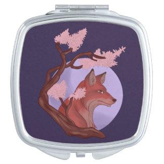 Miroirs De Poche Fox de Sakura
