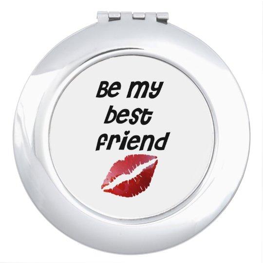 Miroirs De Poche Miroir Be my best friend bouche rouge