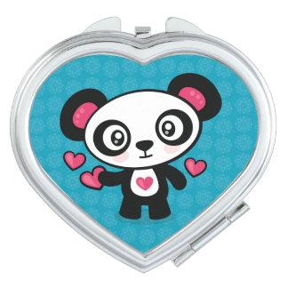 Miroirs De Poche Miroir mignon de contrat de panda