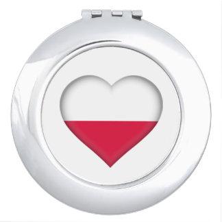 Miroirs De Poche Miroir polonais de contrat d'amour