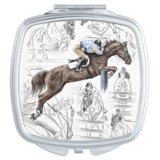 Miroirs De Poche Montage de barrières de chevaux de pullover