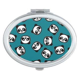 Miroirs De Poche Motif noir et blanc de bande dessinée de panda
