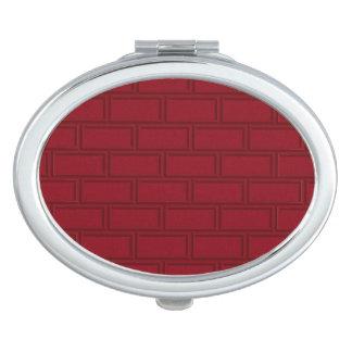 Miroirs De Poche Motif rouge frais de mur de briques de bande
