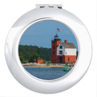 Miroirs De Poche Phare rond d'île