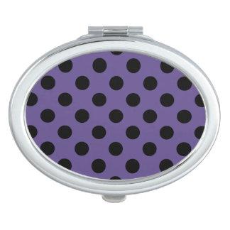 Miroirs De Poche Pois noir sur l'ultraviolet