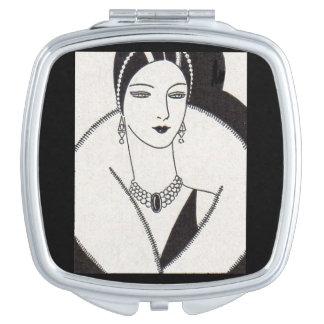 Miroirs De Voyage femme 1928 d'art déco
