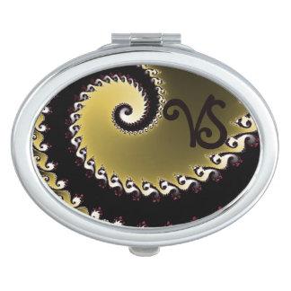Miroirs De Voyage Fractale. D'or, argenté, noir. Ajoutez le