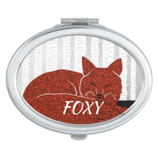 Miroirs De Voyage La forêt de neige a scintillé Fox