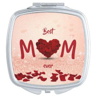 Miroirs De Voyage Le meilleur bouquet toujours rose de coeur de