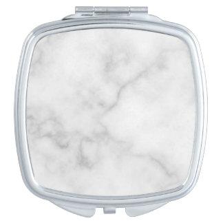 Miroirs De Voyage Motif de marbre blanc élégant chic