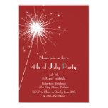 Miroite 4 juillet l'invitation de partie carton d'invitation  12,7 cm x 17,78 cm
