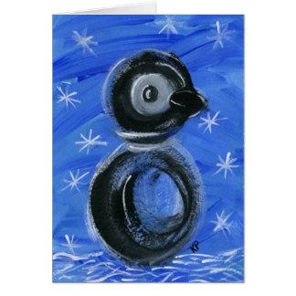 Miroite le pingouin carte de vœux