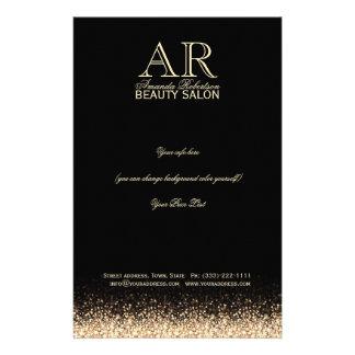 Miroiter des listes des prix de noir de conception prospectus 14 cm x 21,6 cm