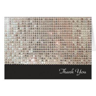 Miroiter la carte de note de Merci de paillettes
