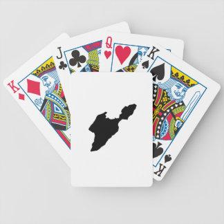 Mis dans la forme de logo de silhouette d'île de cartes à jouer
