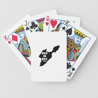 Mis dans le logo le lac Érié de silhouette de Jeu De Poker