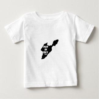 Mis dans le logo le lac Érié de silhouette de T-shirt Pour Bébé