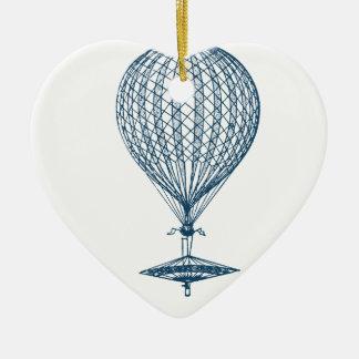 Miscellaneous - Blue Vintage: Balloon-Air Ornement Cœur En Céramique