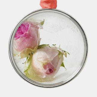 Miscellaneous - Frozen Flowers Patterns Five Ornement Rond Argenté