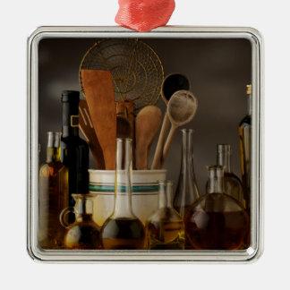 Miscellaneous - Oil & Olives Patterns Four Ornement Carré Argenté