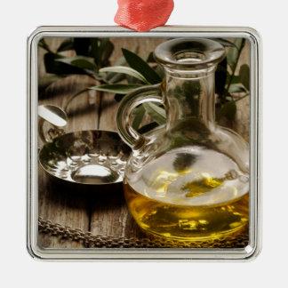 Miscellaneous - Oil & Olives Patterns Two Ornement Carré Argenté