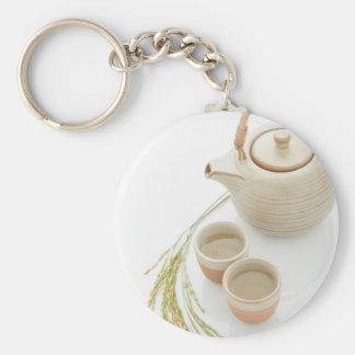 Miscellaneous - Rice Tea Patterns One Porte-clé Rond