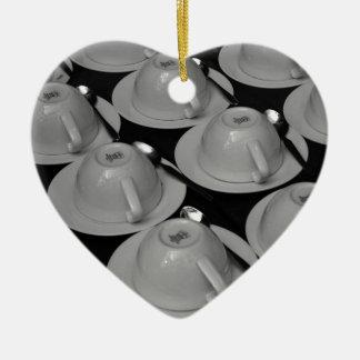 Miscellaneous - Tea time in Kenya Pattern Ornement Cœur En Céramique