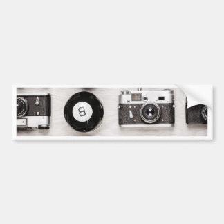 Miscellaneous - Vintage Camera Patterns Eight Autocollant Pour Voiture
