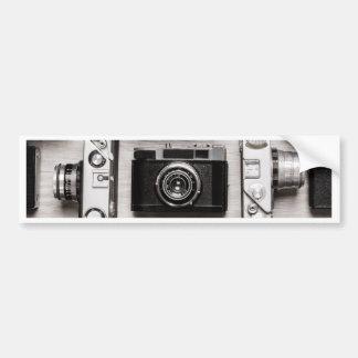 Miscellaneous - Vintage Camera Patterns Five Autocollant De Voiture
