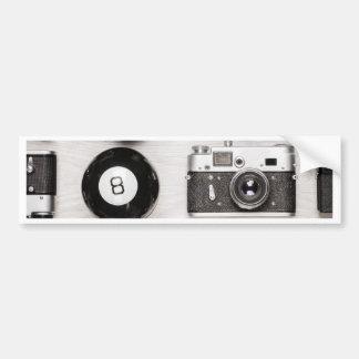 Miscellaneous - Vintage Camera Patterns One Autocollant De Voiture