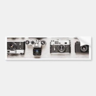 Miscellaneous - Vintage Camera Patterns Seven Autocollant Pour Voiture