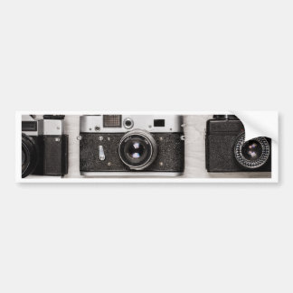 Miscellaneous - Vintage Camera Patterns Six Autocollant De Voiture