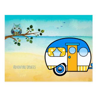 Mise à jour d'aventure de sagesse de hibou carte postale
