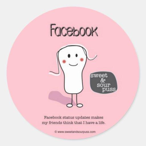 Mises à jour de statut de SSPG90-Facebook douces Adhésifs Ronds