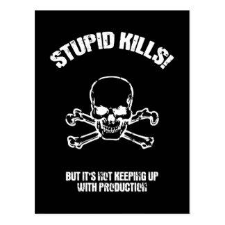 Mises à mort stupides cartes postales